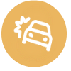 Motor accident yellow