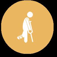Crutches icon Yellow