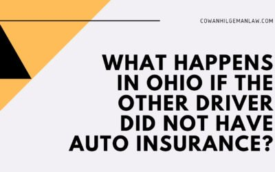 What happens in Ohio if the other driver did not have auto insurance?
