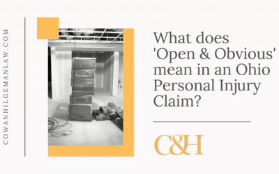"What Does ""Open and Obvious"" Mean in an Ohio Personal Injury Claim?"