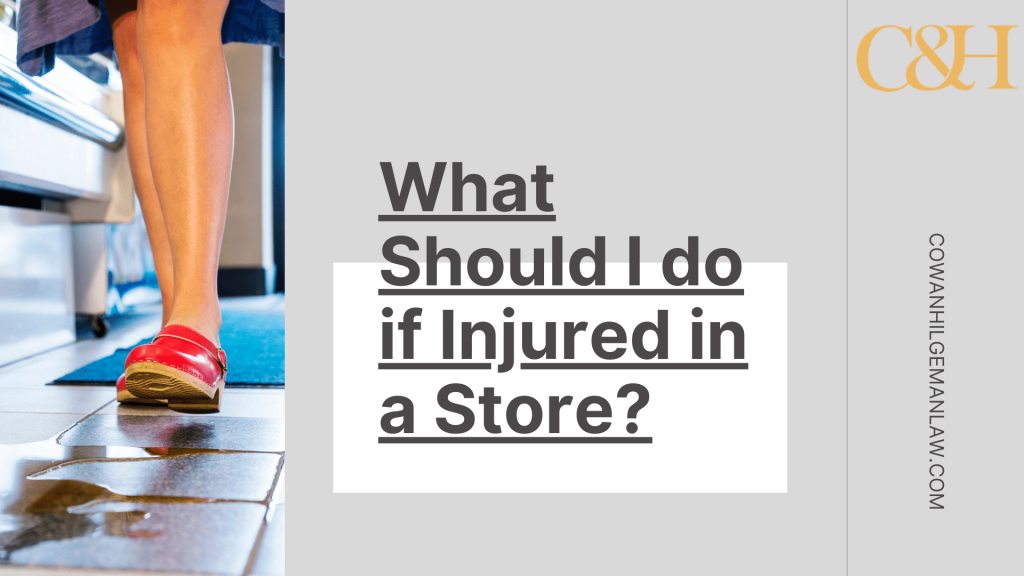 injured in a store