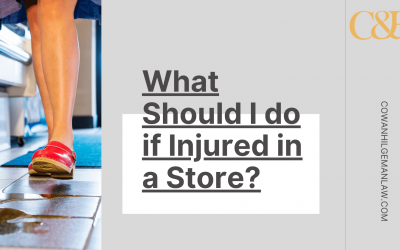 What Should I do if Injured in a Store?