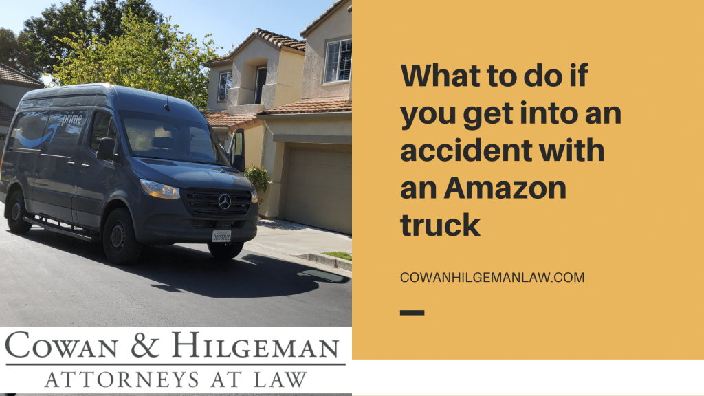 accident with an amazon truck