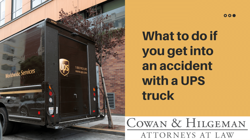 accident with a ups truck