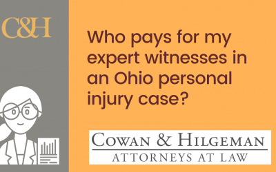 Who pays for my expert witnesses in an Ohio personal injury case?