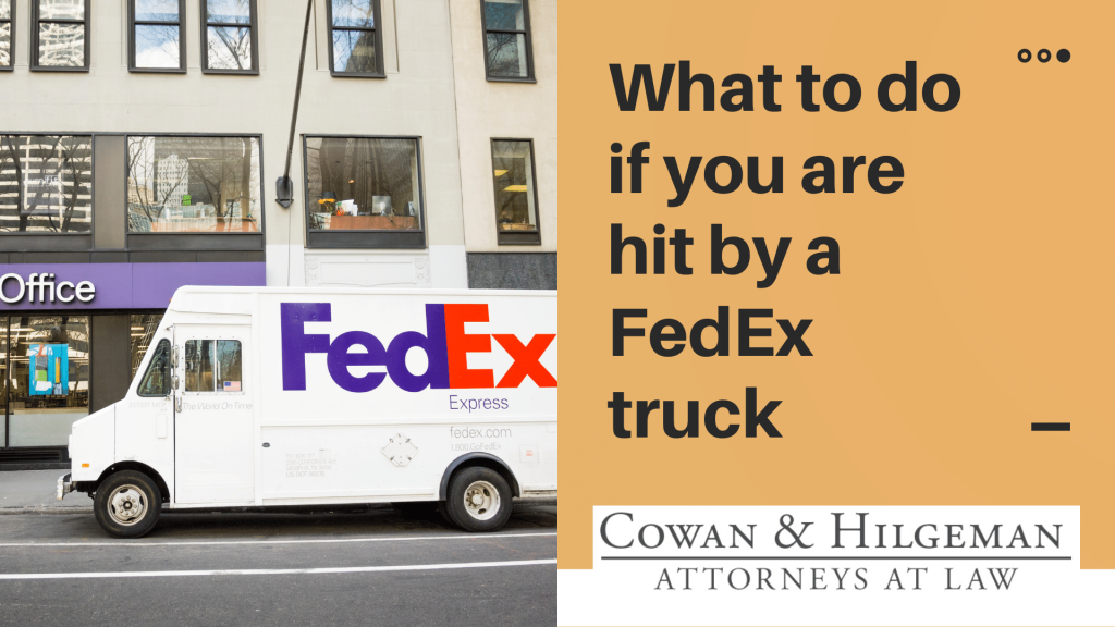 hit by a fedex truck