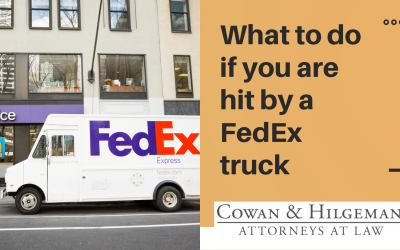 What to do when hit by a FedEx truck