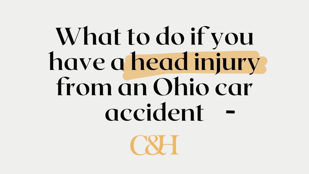 head injury ohio car accident
