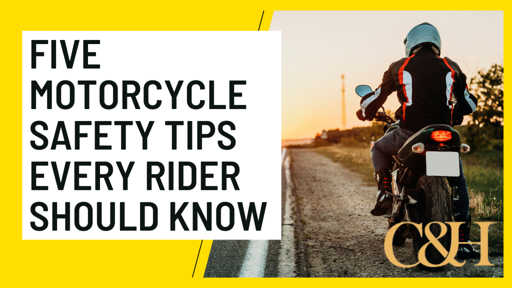 five motorcycle safety tips every rider should know